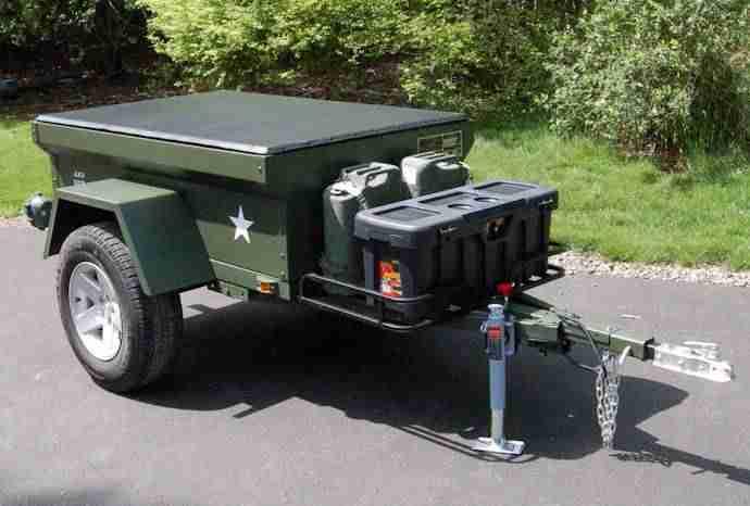 m416 military trailer wide fenders dinoot jeep trailers. Black Bedroom Furniture Sets. Home Design Ideas