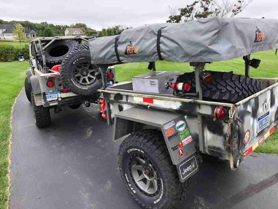 No Weld Trailer Racks on M416/M100 Trailer 2 Jeep Trailers by Dinoot